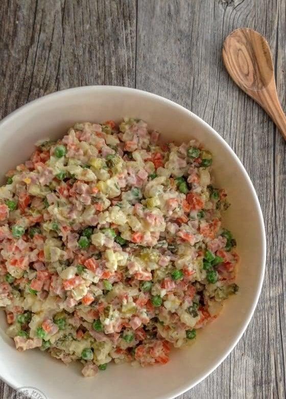 Olivye potato salad.