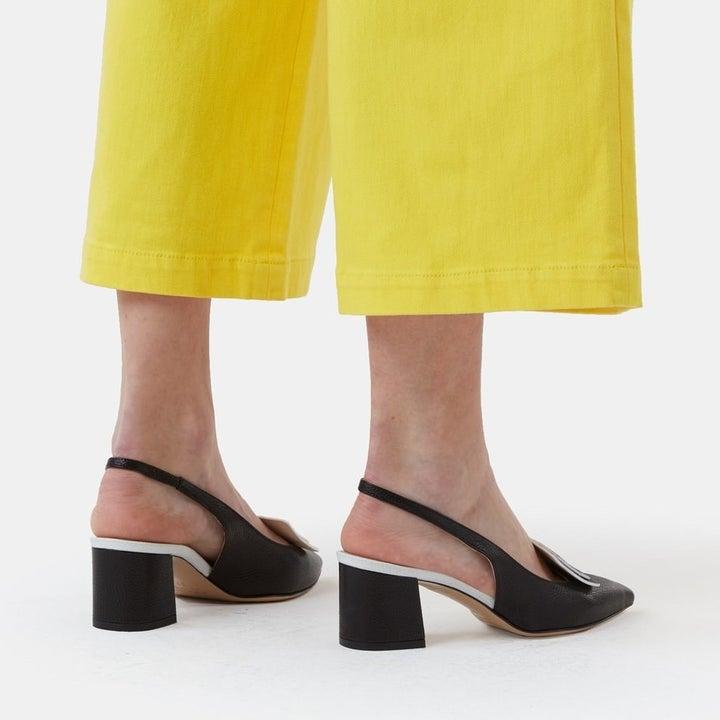 the heeled shoes
