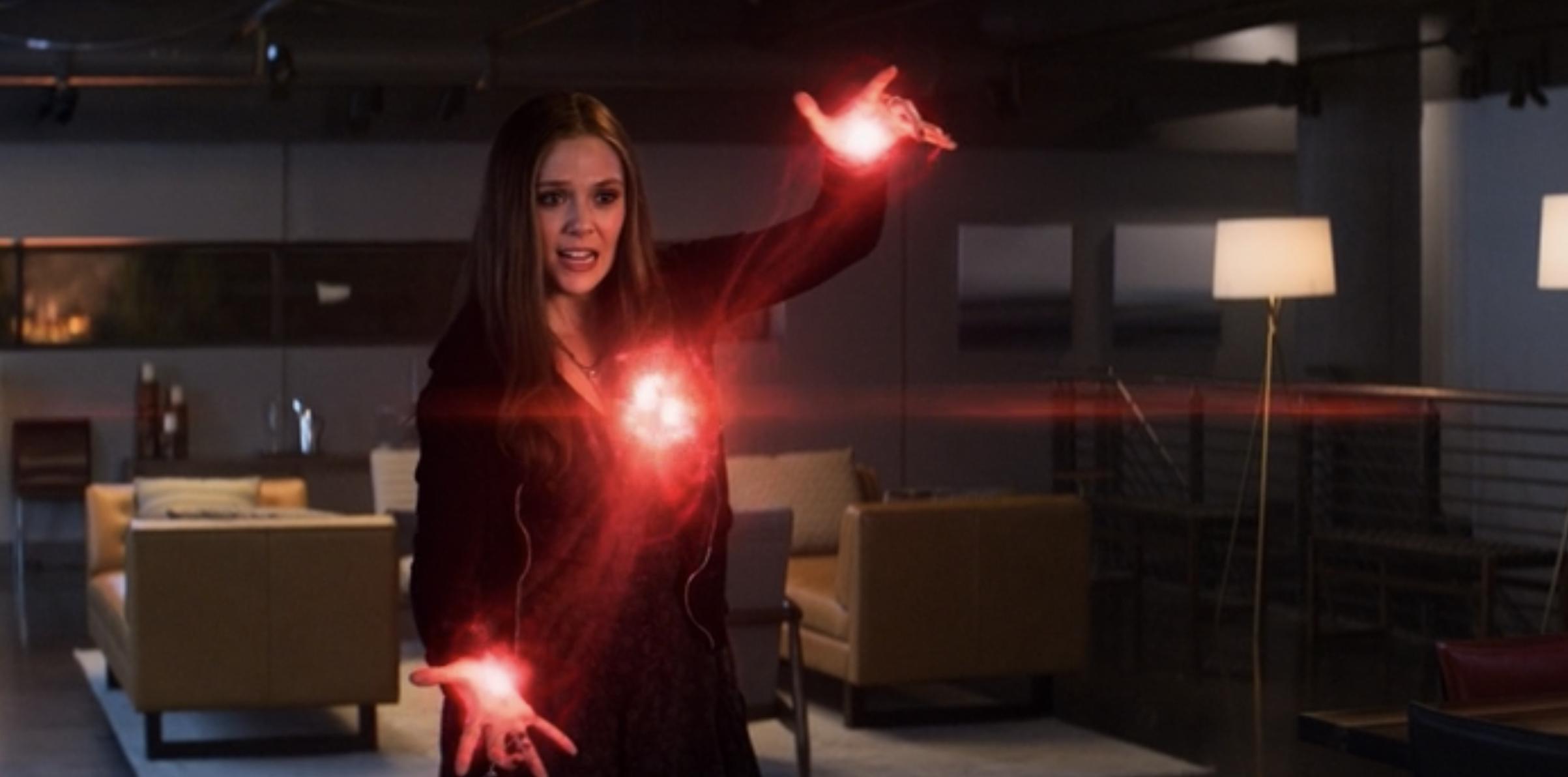 """Wanda using her powers in """"Captain America: Civil War"""""""