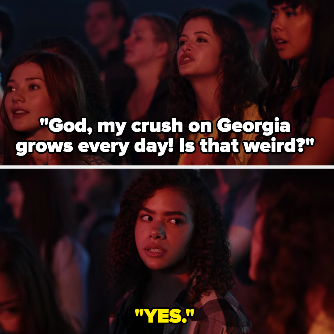 Max says her crush on Georgia grows every day