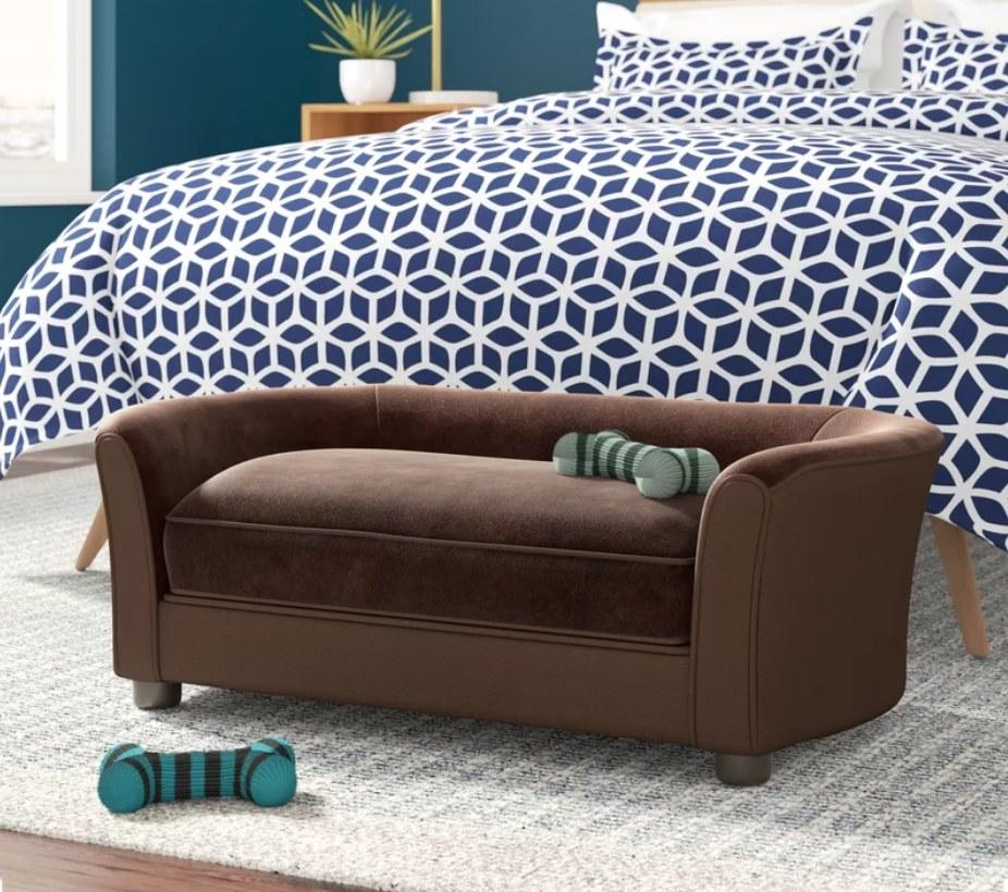 Brown pet sofa