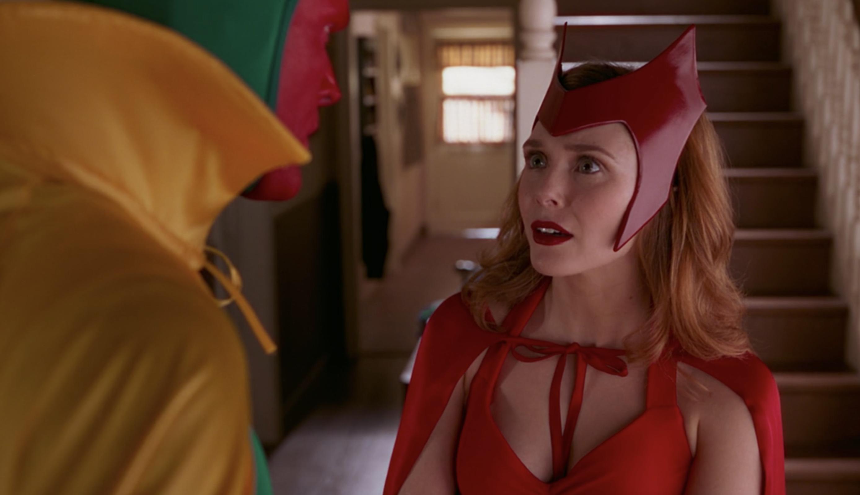 "Wanda in her halloween costume in ""WandaVision"""