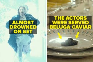 Kate Winslet almost drowned on set, and the actors were served beluga caviar