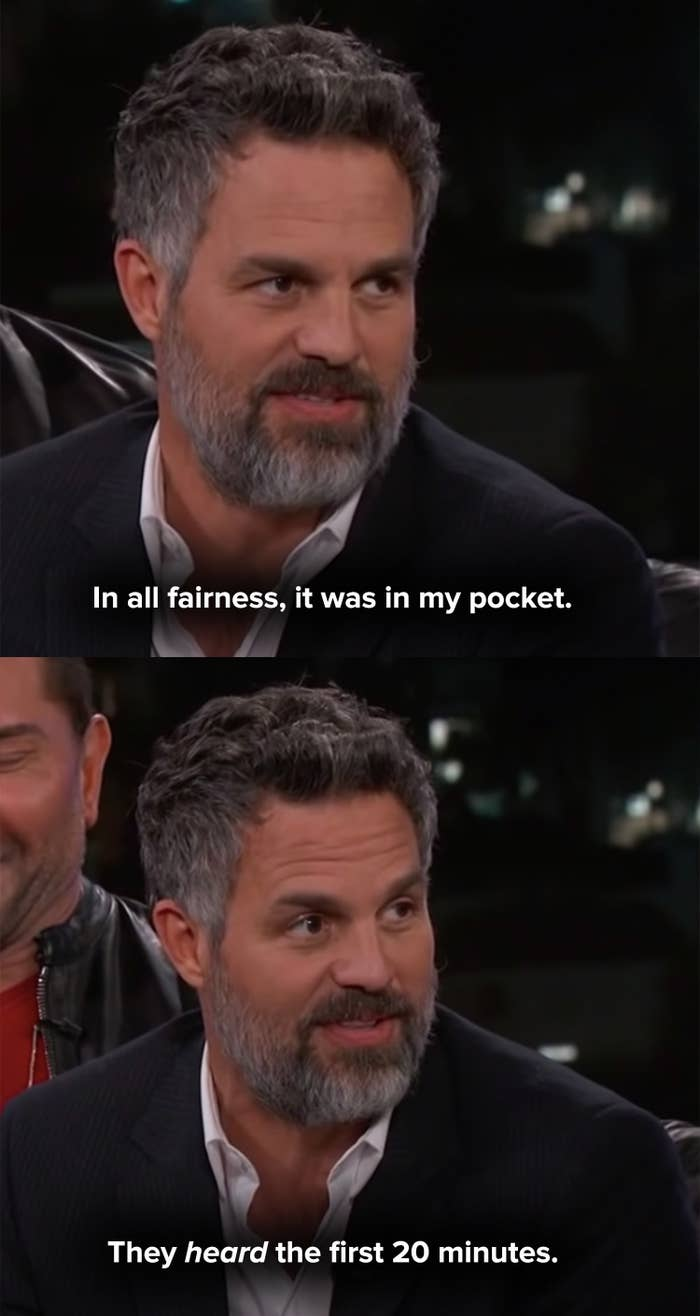 Mark says the phone was in his pocket