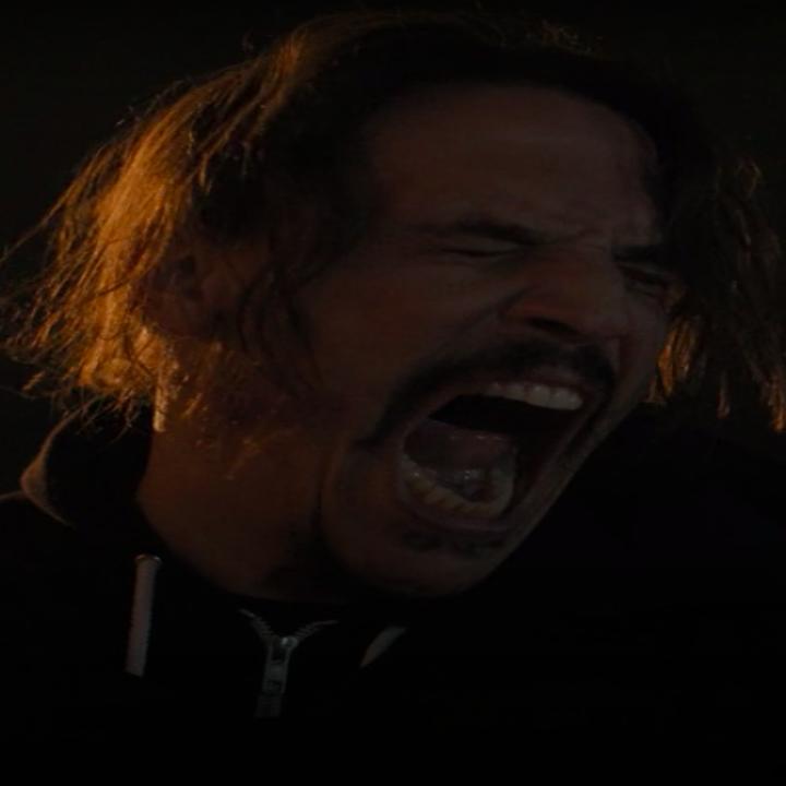 "Gustavo screaming in ""Snowfall"""