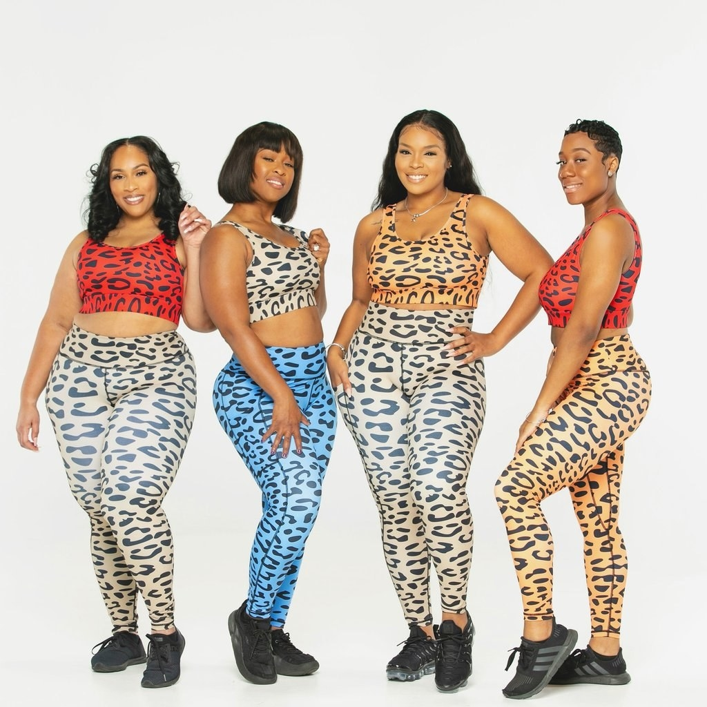 Four models wearing the collection