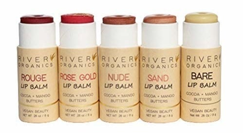 the lip balms in different shades