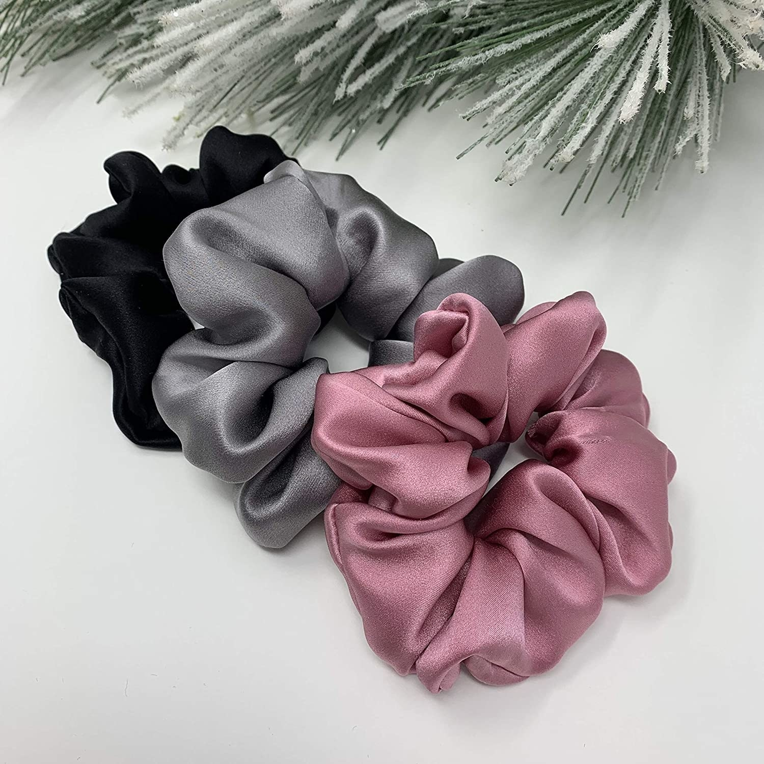 the three scrunchies in different colors