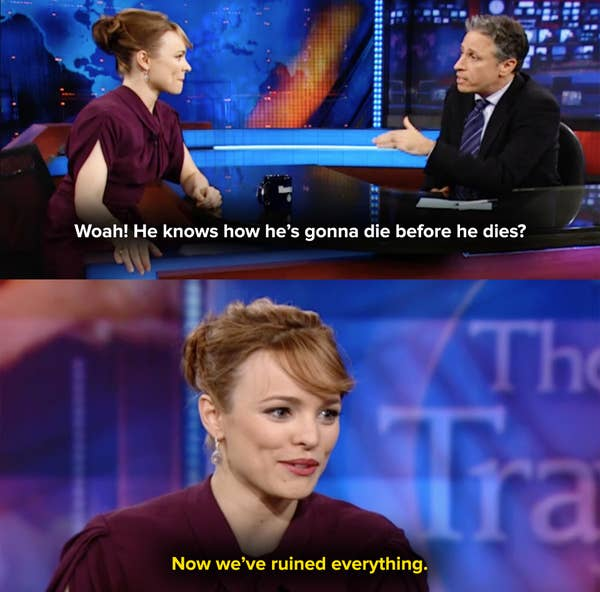 Rachel McAdams spoiled the movie by revealing her husband sees his own death