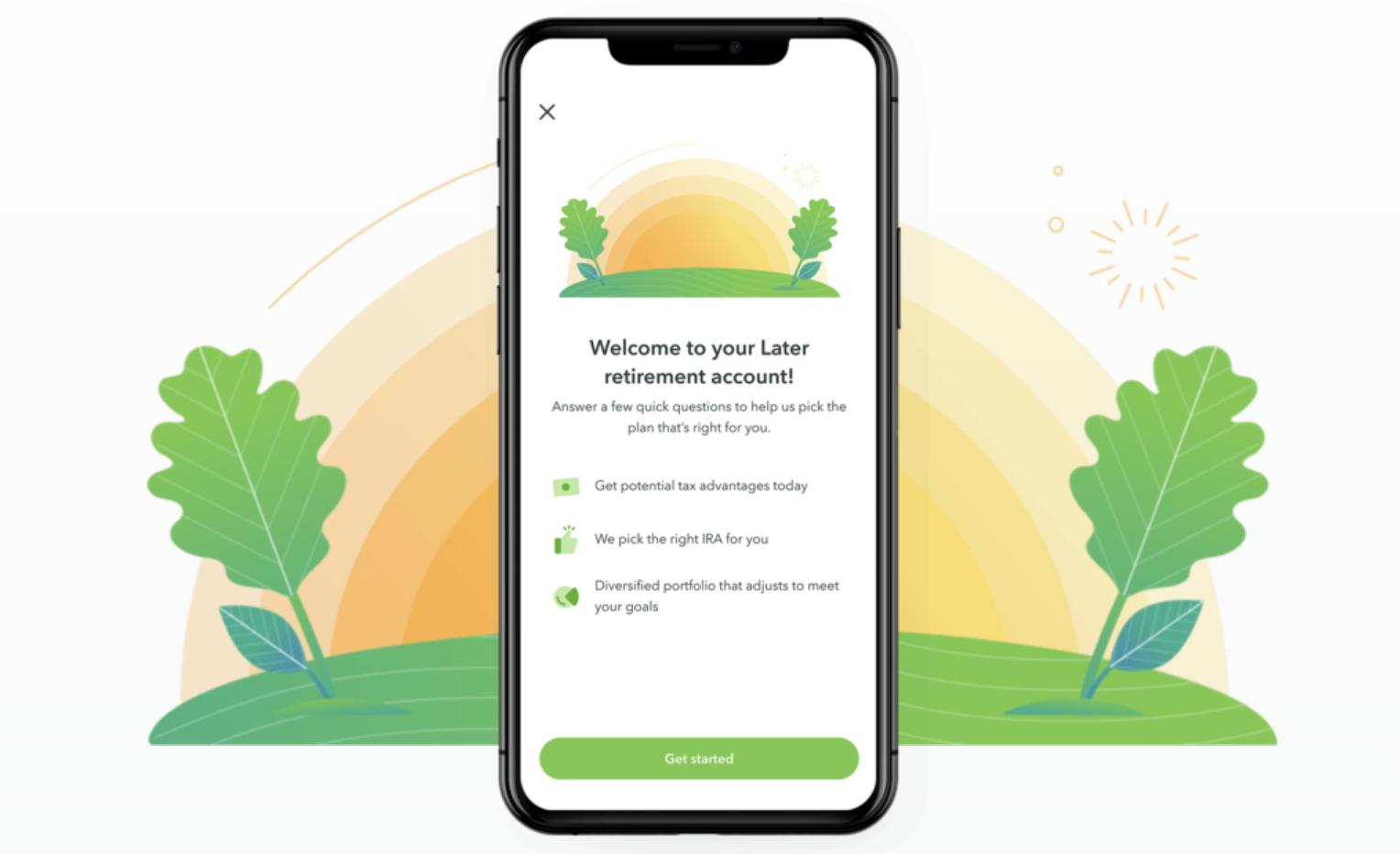 Screenshot of the Acorns app