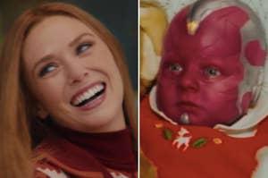 Wanda and baby Vision from