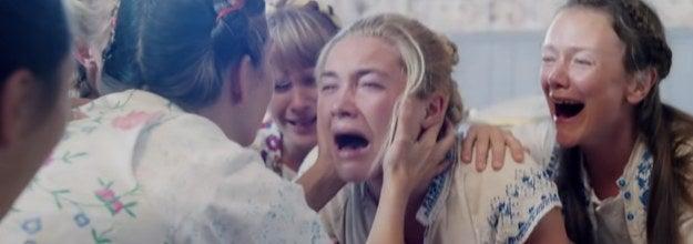 florence pugh losing her mind during midsommar