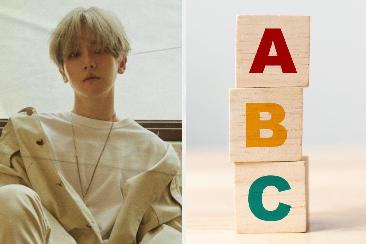Baekhyun and ABC blocks