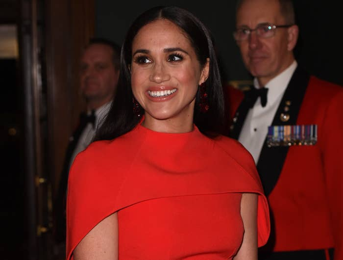 Meghan smiles at a royal event