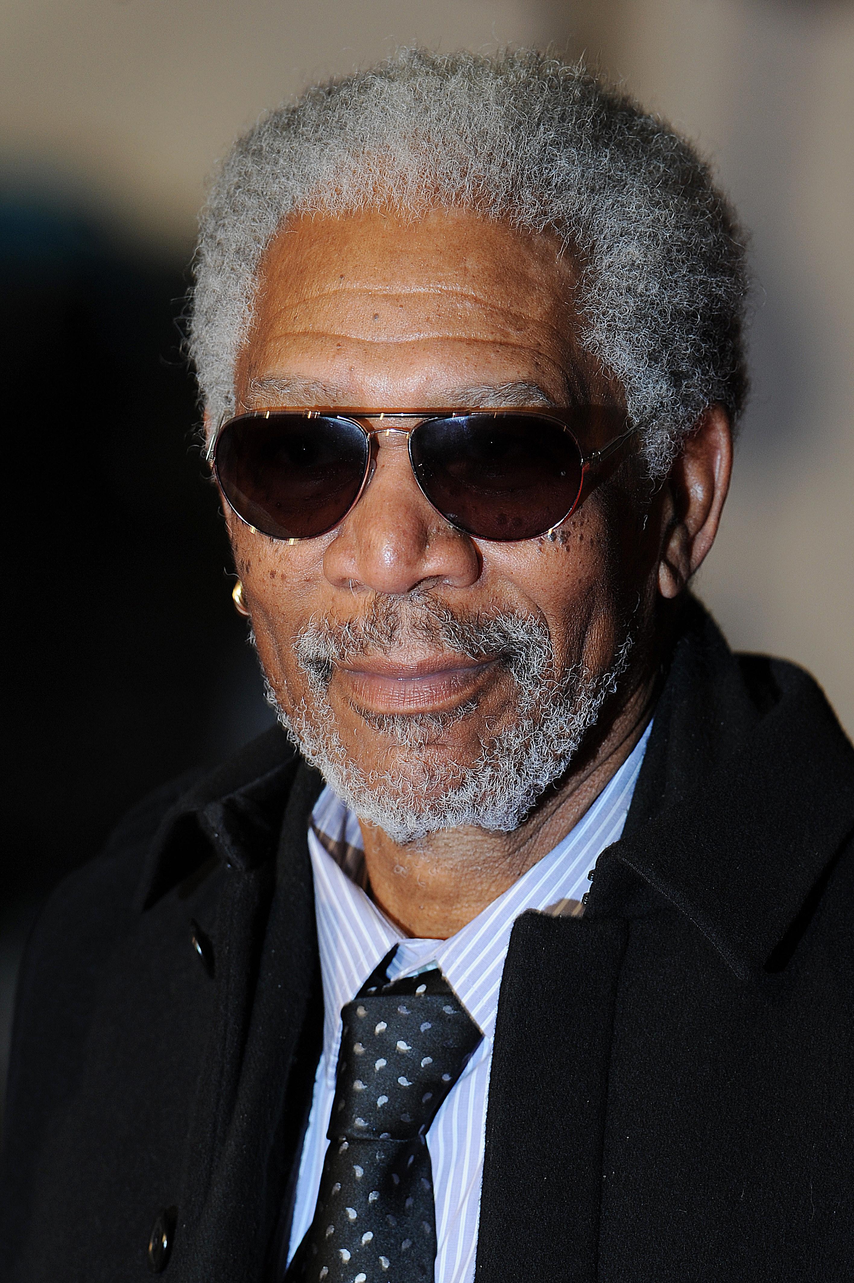 Morgan Freeman at the premiere of Invictus