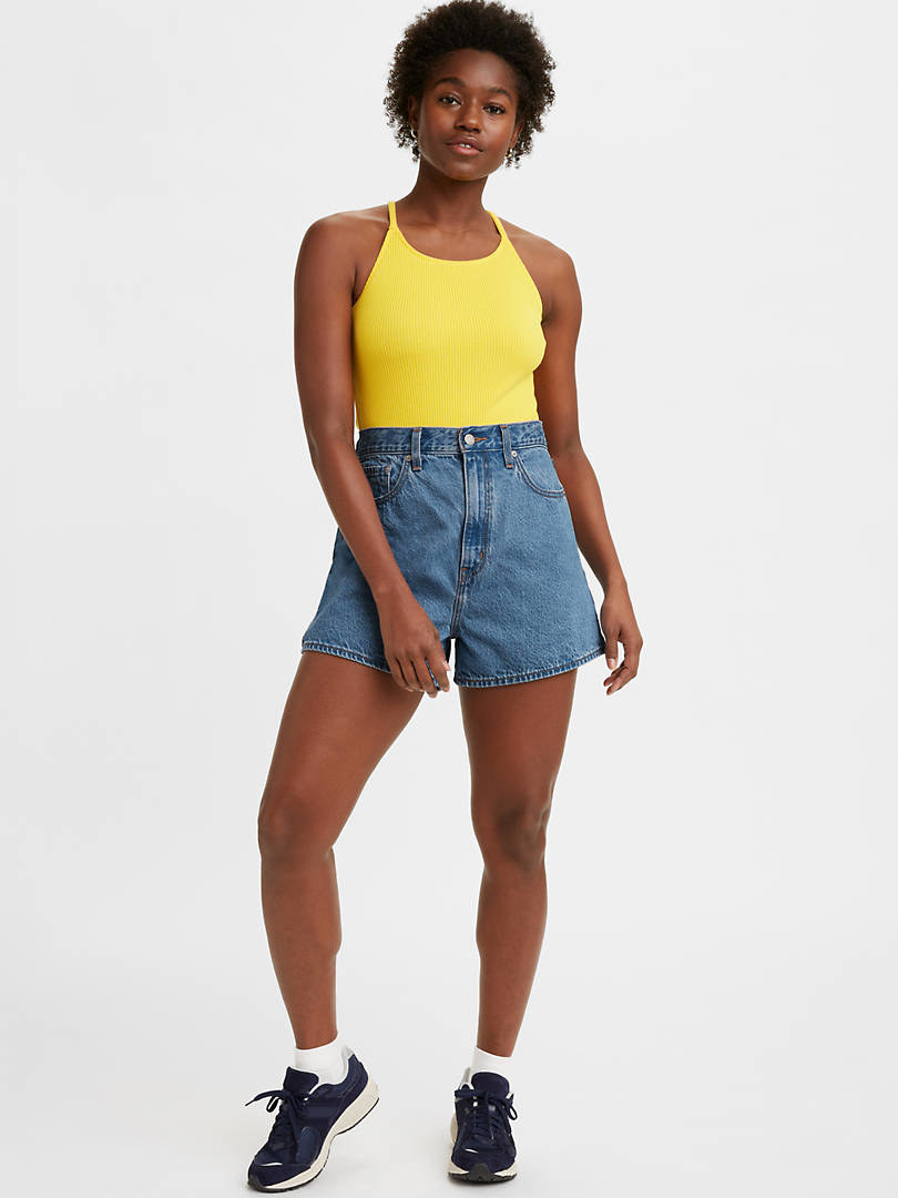 a model wearing the shorts