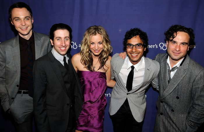 The cast at a press event