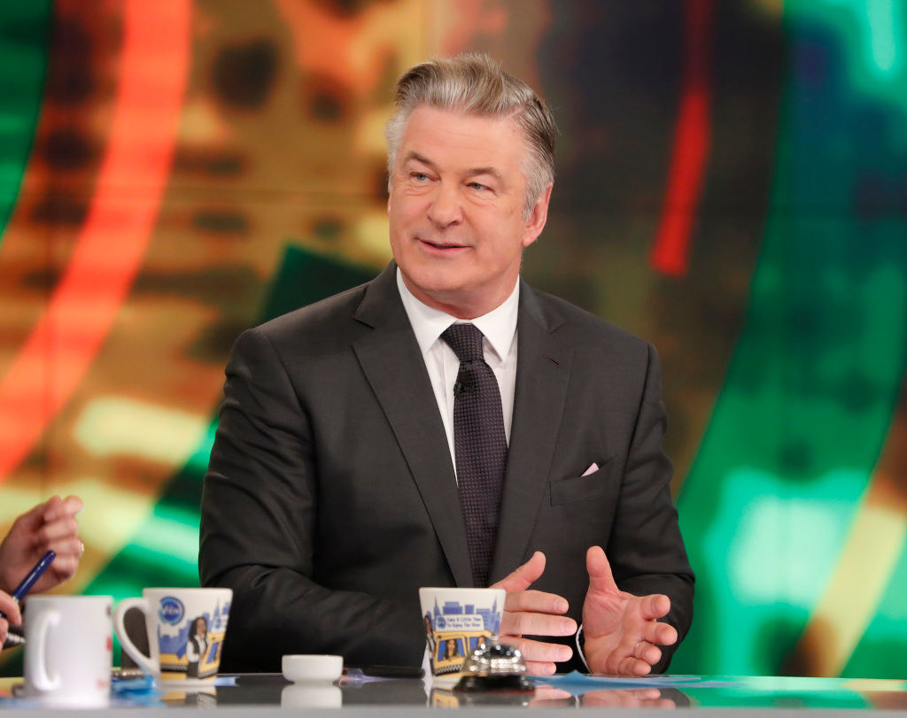 Alec Baldwin speaking on the set of The View