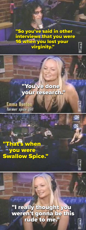 "Stern calling Bunton ""Swallow Spice"""