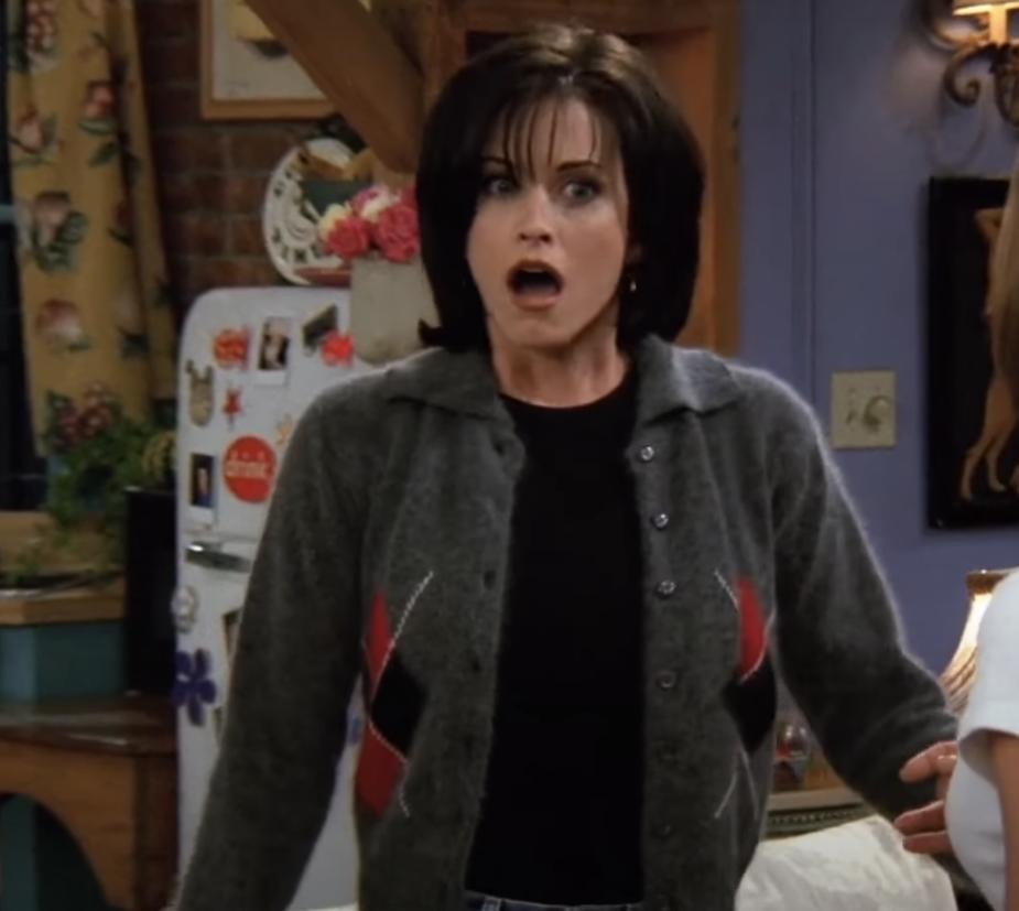 Monica gasping