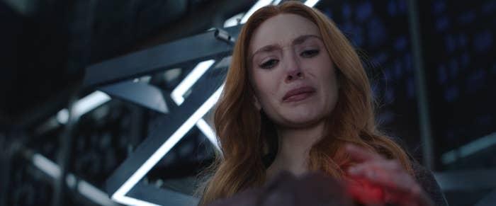 A distraught Wanda