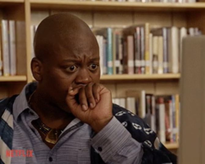 Titus Burgess shocked and disgusted