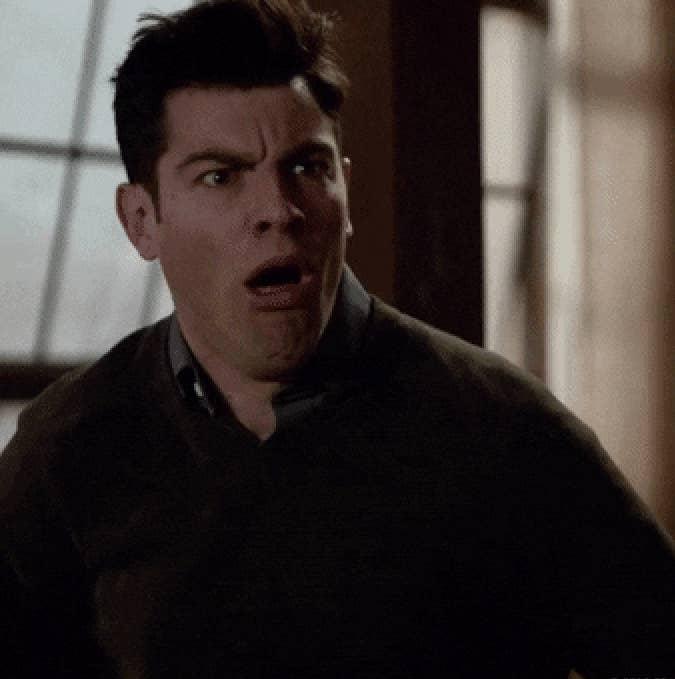 Schmidt gagging in disgust