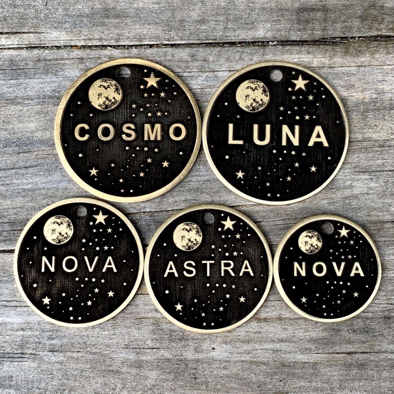 cosmic dog pet tags