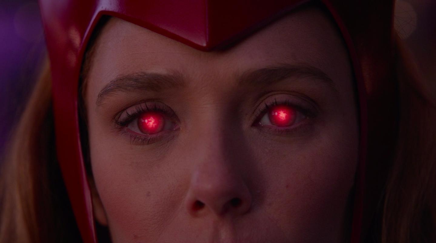 Wanda with glowing eyes in Episode Six