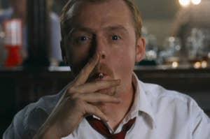 """Simon Pegg as Shaun in the movie """"Shaun of the Dead."""""""
