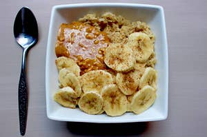 Overnight oats with nut butter