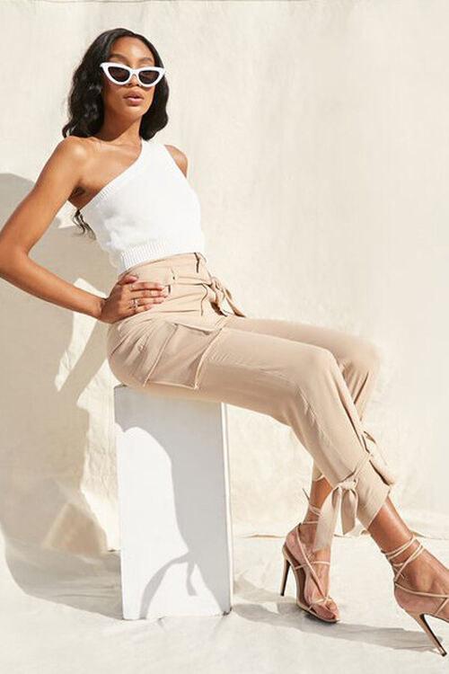 Model wearing the cargo pants