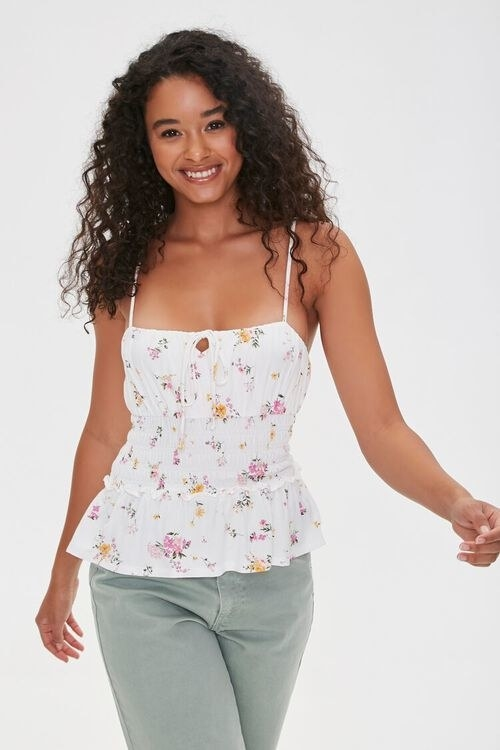Model wearing the cami