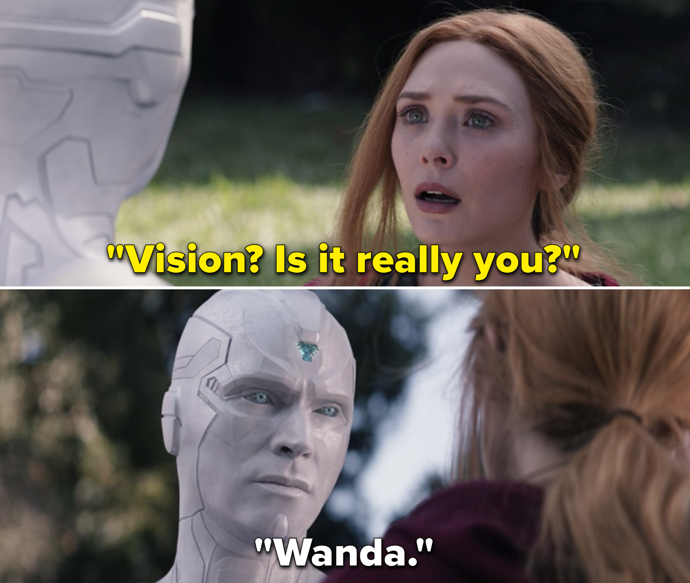 "Wanda saying, ""Vision? Is it really you?"""