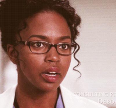 surprised nurse on Grey's Anatomy