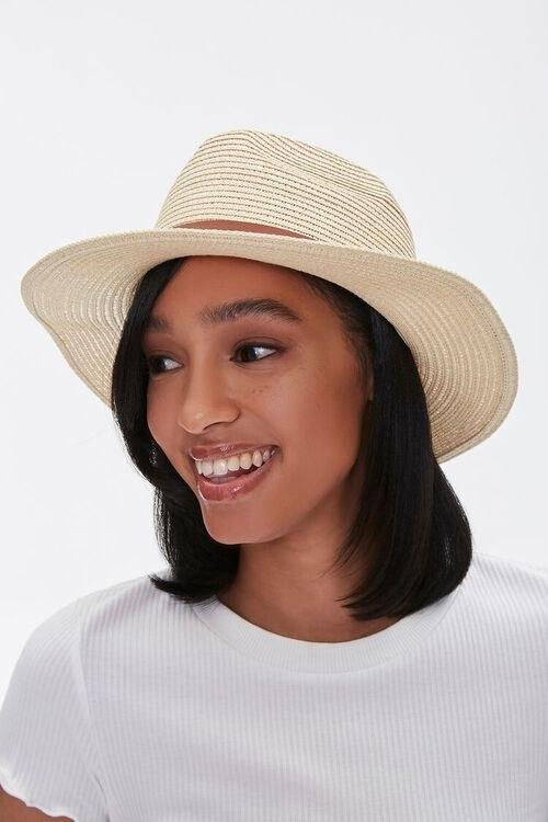 Model wearing the fedora