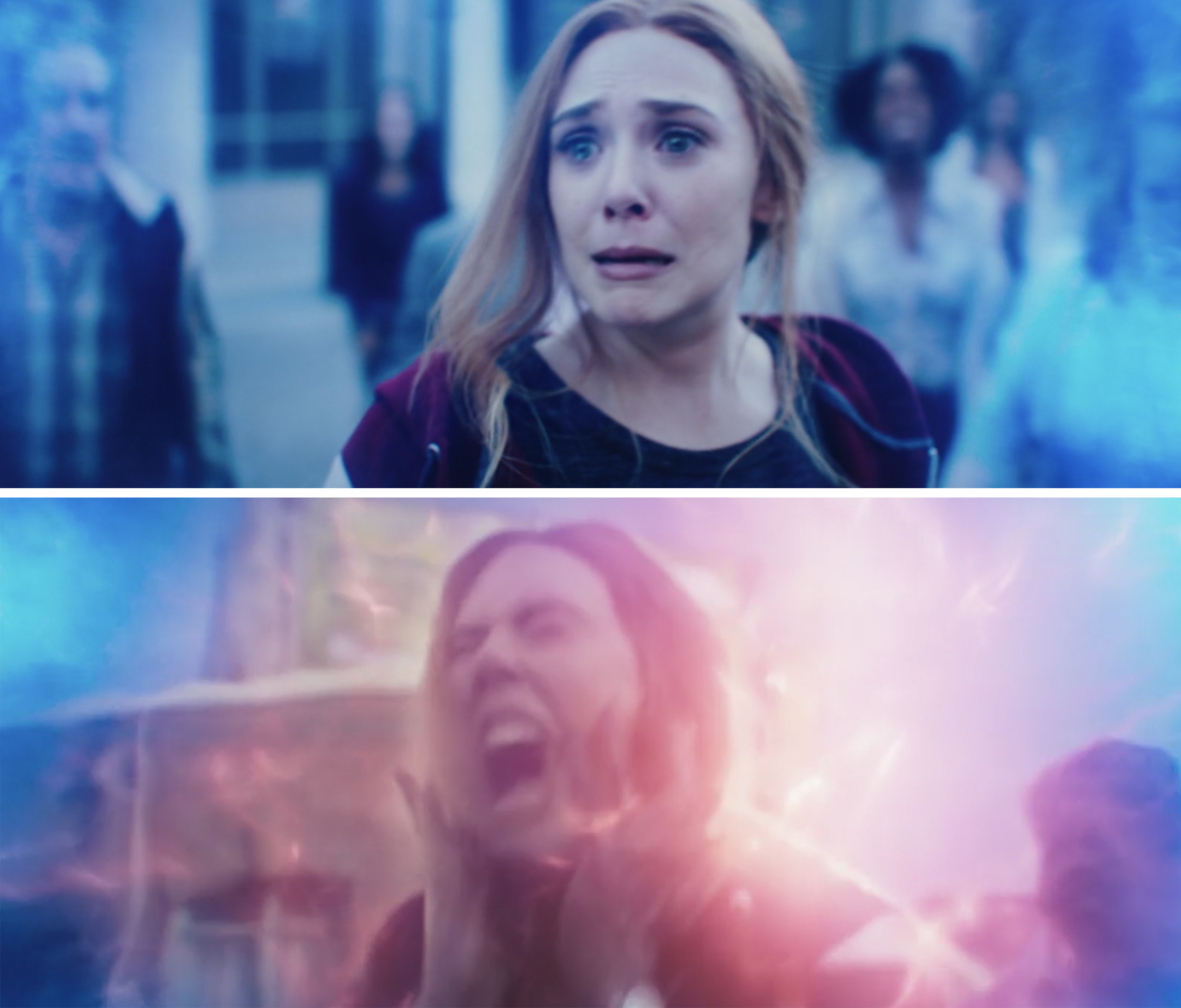 Wanda crying and screaming