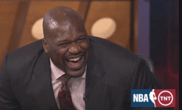 Shaq laughing