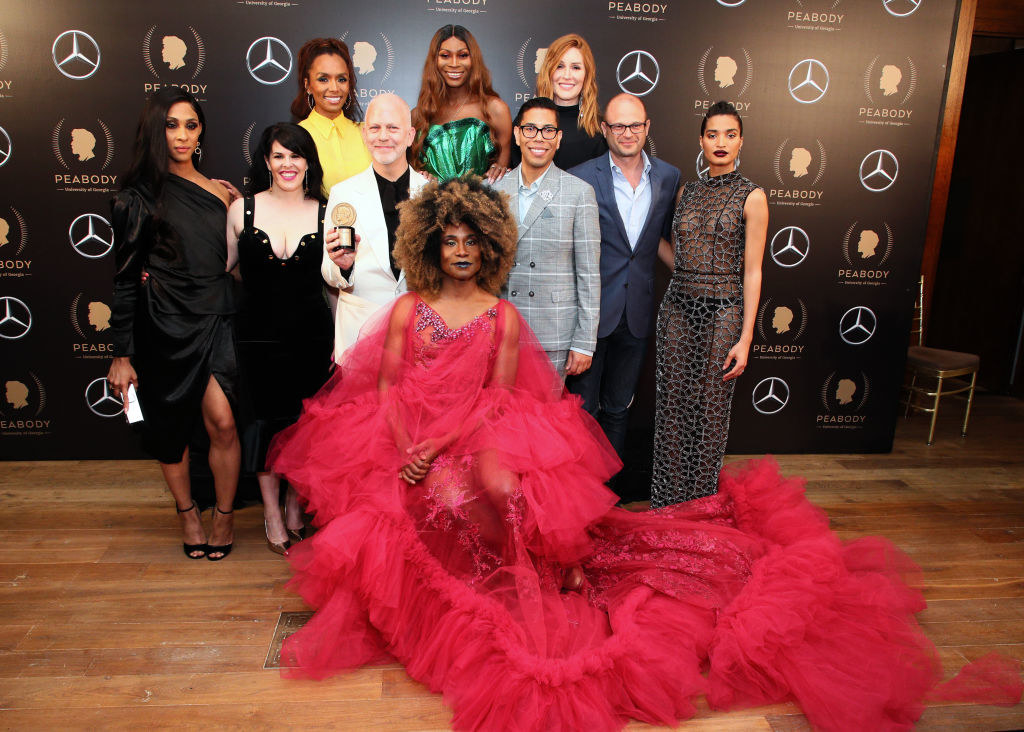 The cast and creators of Pose at the Peabody awards in 2018