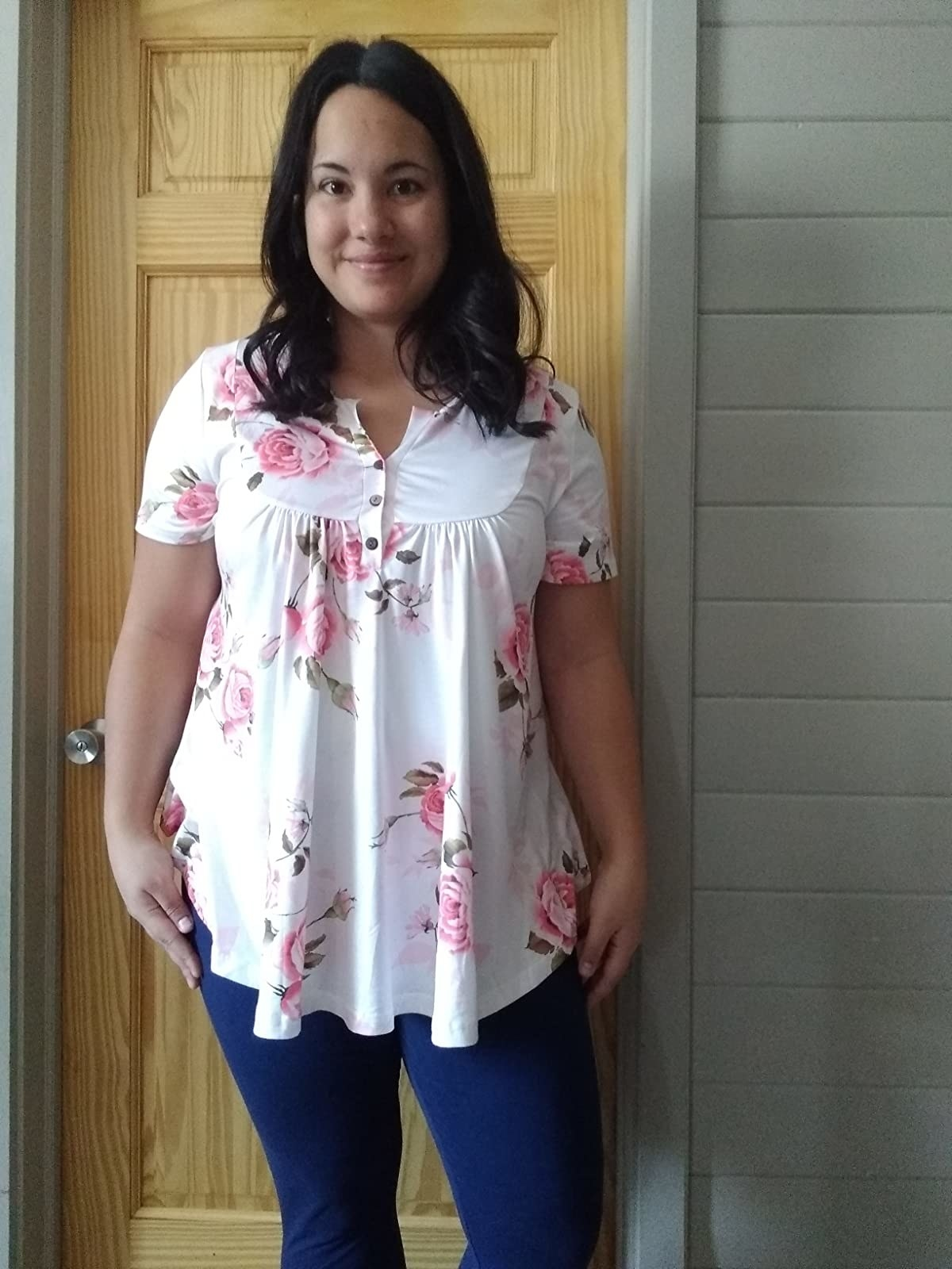 Reviewer wearing top
