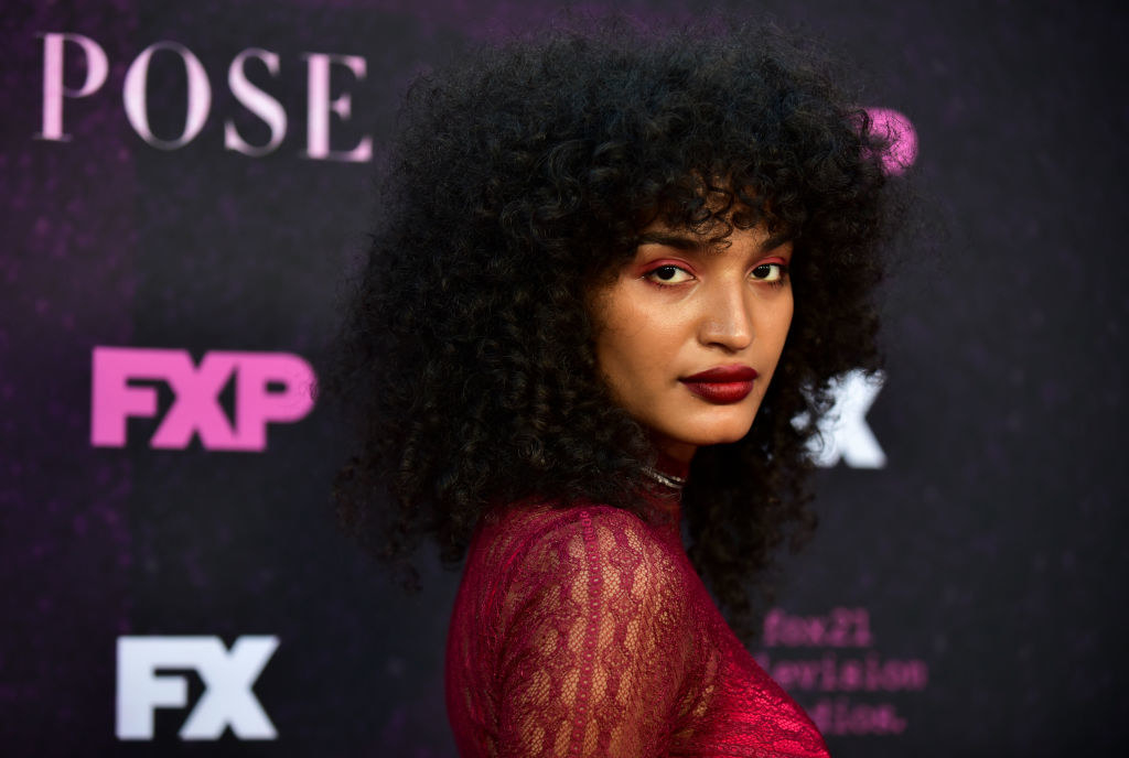 "Indya Moore attends the red carpet event for FX's ""Pose"" in 2019"