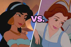 Jasmine on the left and belle on the right