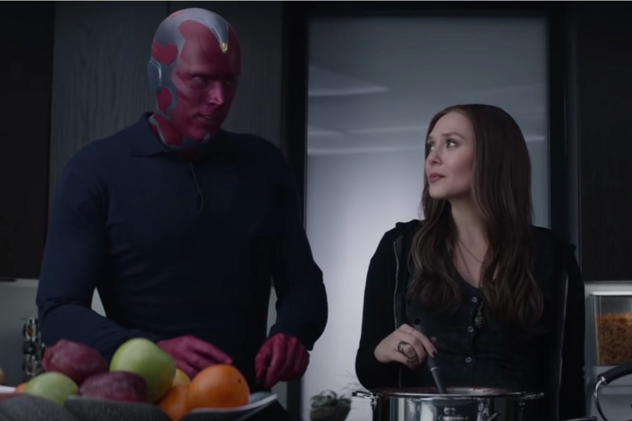 "Vision and Wanda in ""Captain America: Civil War"""