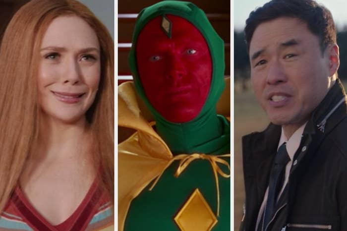 Wanda, Vision, and Jimmy Woo