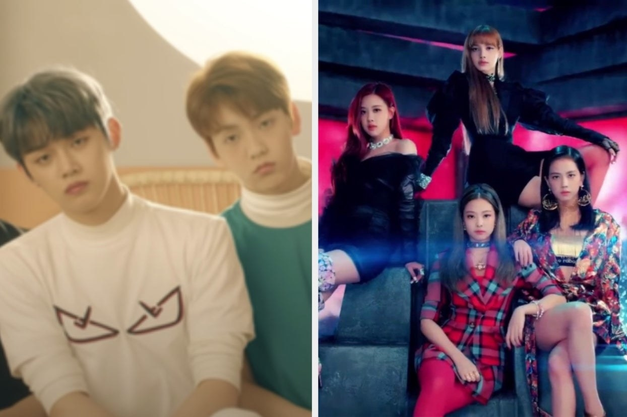 Boy Group TXT and girl group Blackpink