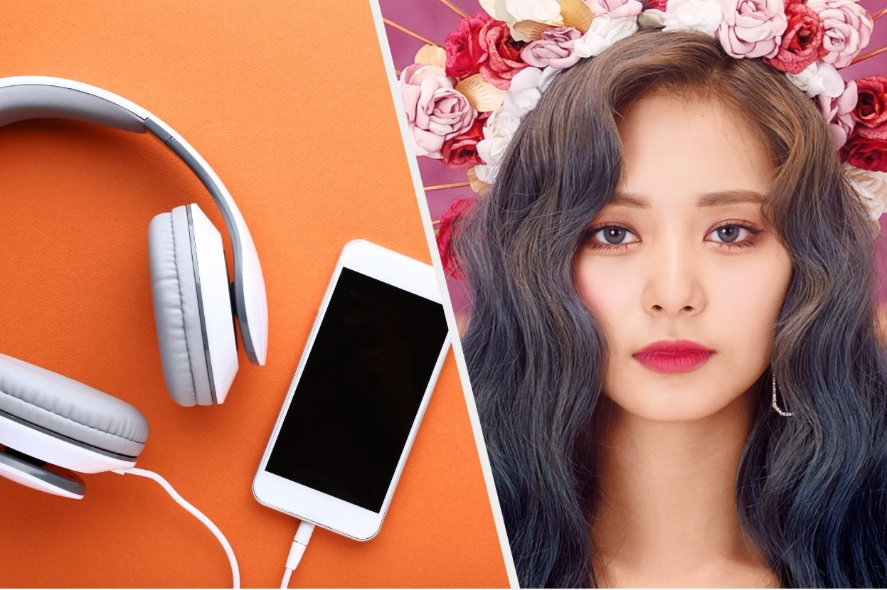 Iphone and headphones and Tyuzu from Twice
