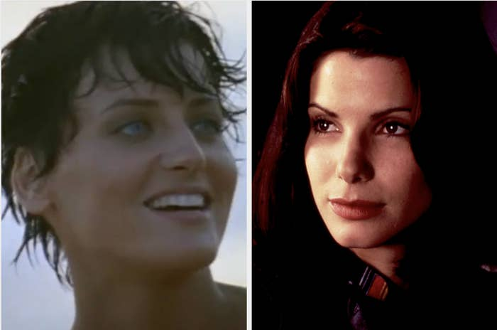 Lori Petty and Sandra Bullock