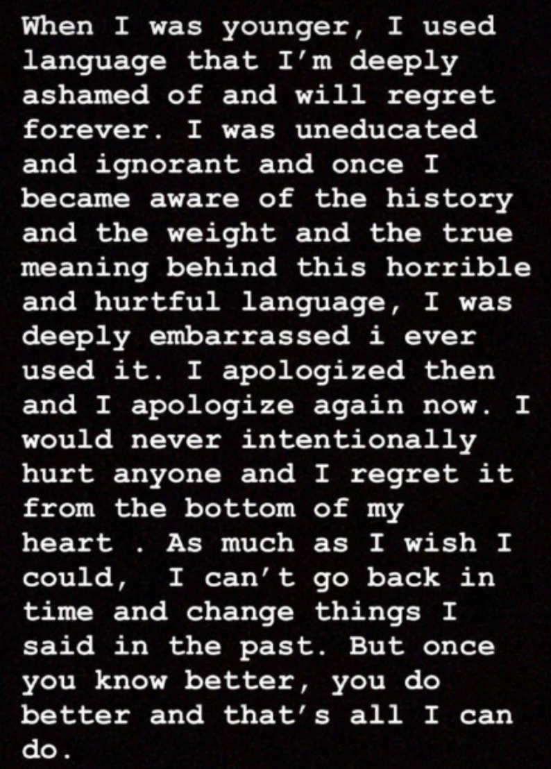 Camila apologizes