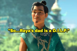 Raya's father from