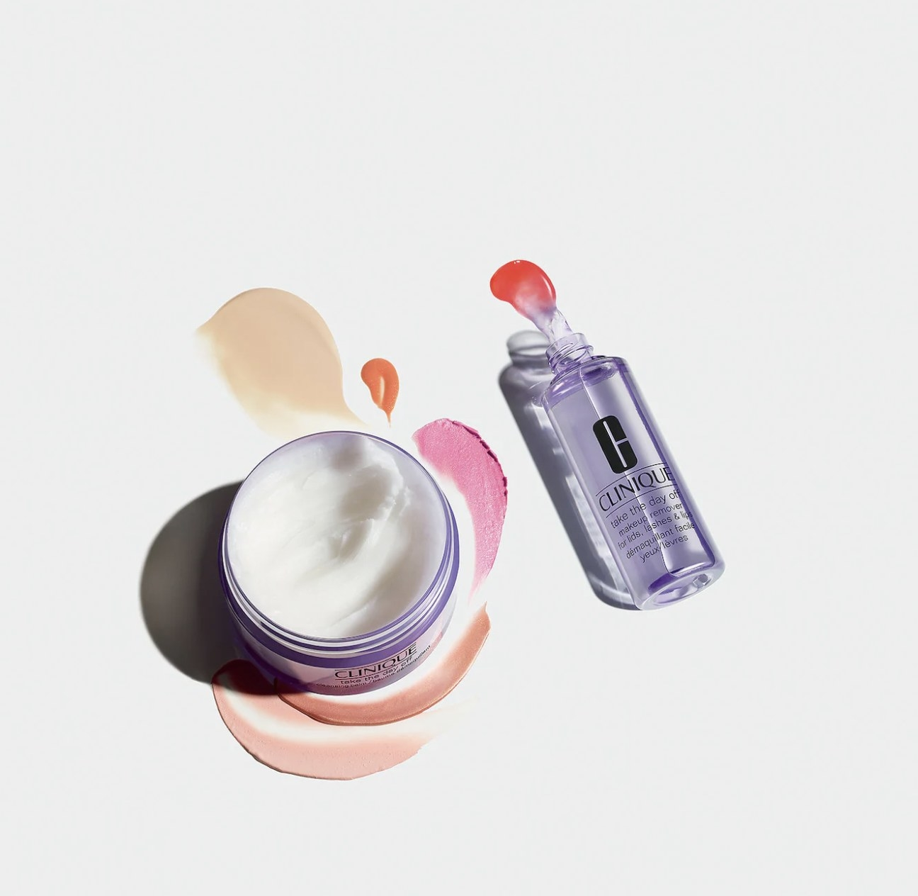 A jar of cleansing balm and a bottle of makeup remover